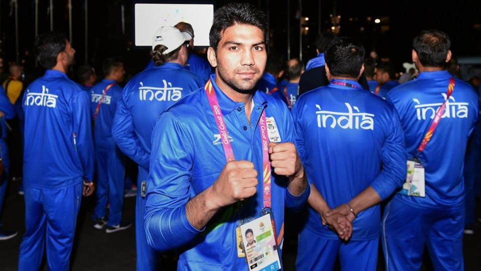 Indian boxer Manoj Kumar poses for a photo. (PTI)