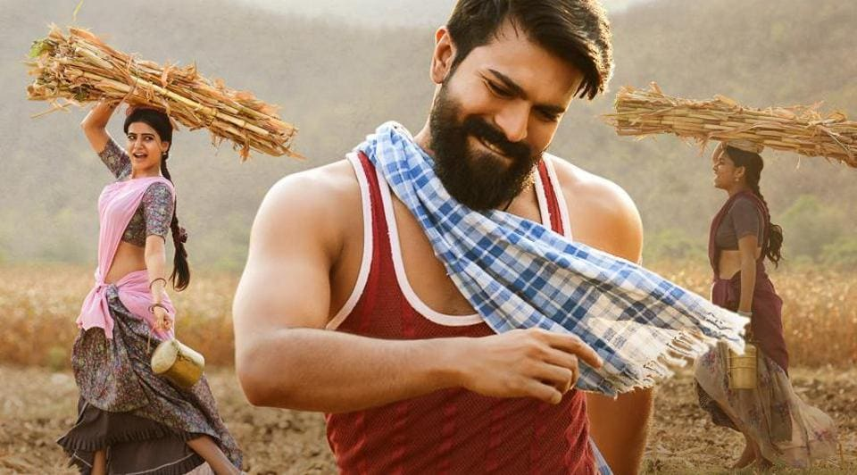 Ram Charan plays the lead role in Rangasthalam.