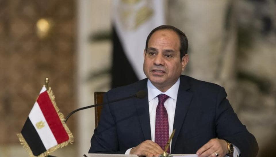 Egypt's President Abdel Fattah al-Sisi speaks during a news conference in Cairo, Egypt.