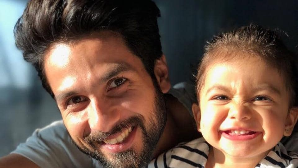 Shahid Kapoor has just the right thing to remind his daughter how stylish the wold once thought he was.