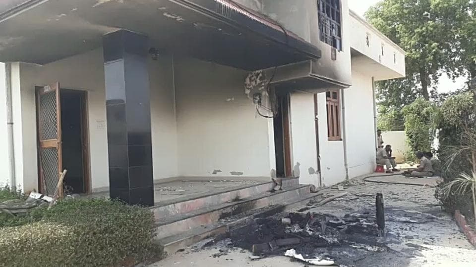 Protesters had set Hindaun City MLA Rajkumari Jatav's home on fire on Tuesday.