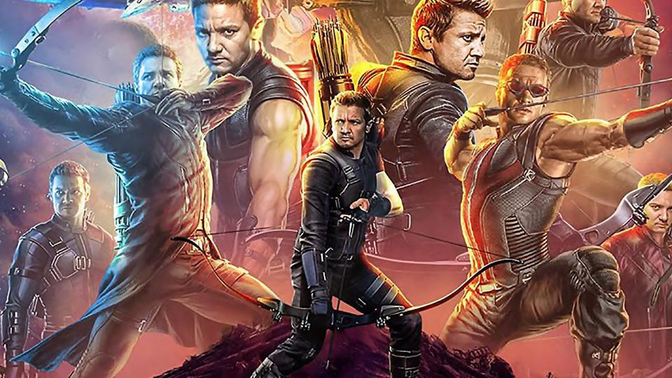 A fan-made poster of Avengers: Infinity War that replaces every Avenger with Jeremy Renner's Hawkeye.