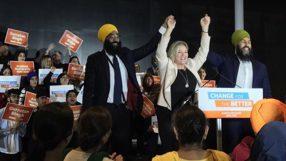 Gurratan Singh last month while announcing he was going to vie for the nomination of the NDP to contest the seat of Brampton East in the upcoming provincial elections.