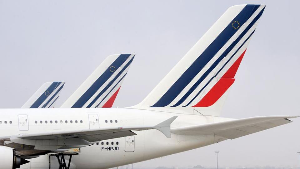 A file photo taken on December 2, 2016, shows Airbus A380 jetliners bearing the Air France livery on the tarmac at Paris Roissy Charles-de-Gaulle airport.