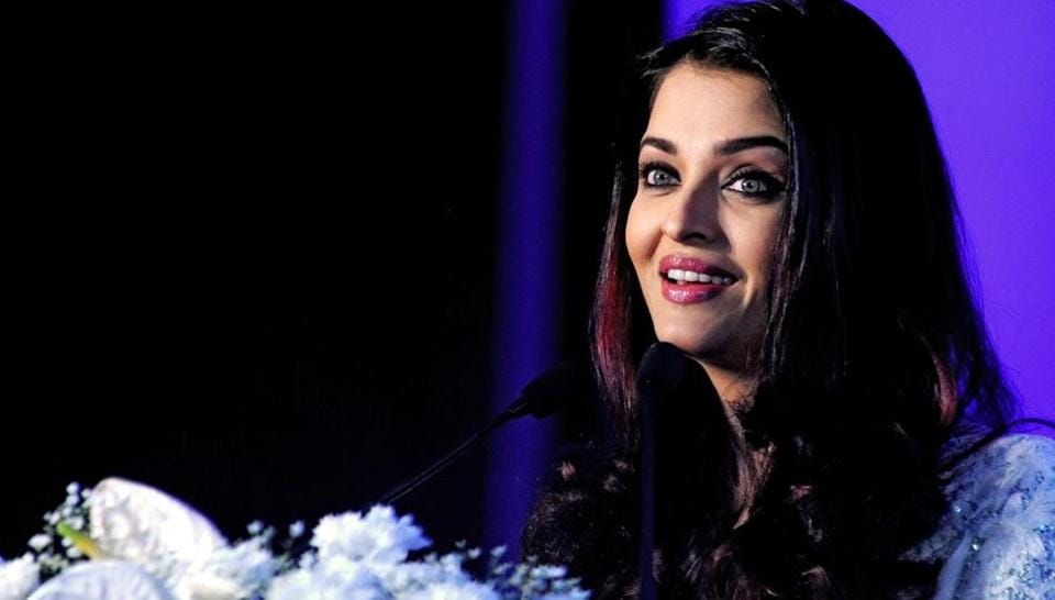 Aishwarya Rai Bachchan speaks during a Smile Train event celebrating 500.000 free cleft surgeries in Mumbai on March 6, 2018.
