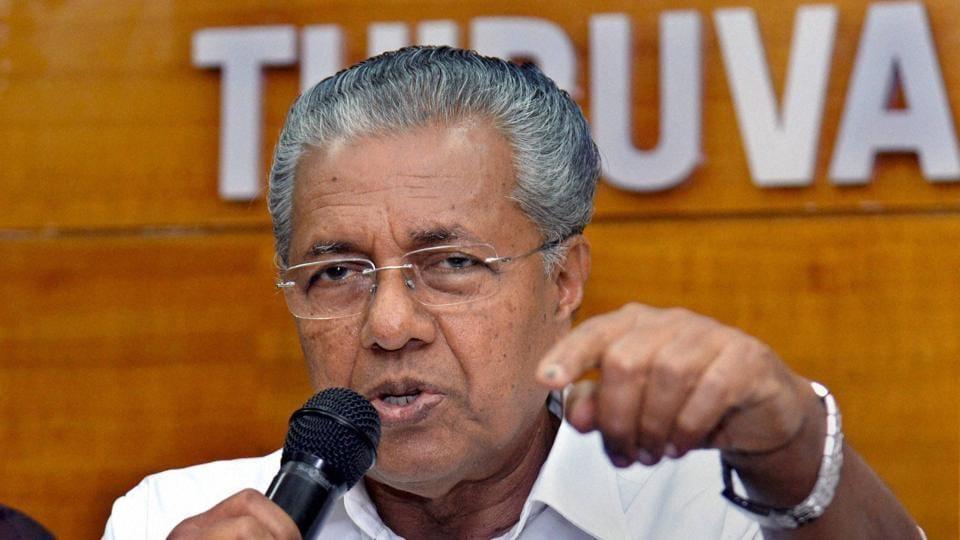 Kerala CM Pinarayi Vijayan during a press conference in Thiruvananthapuram.