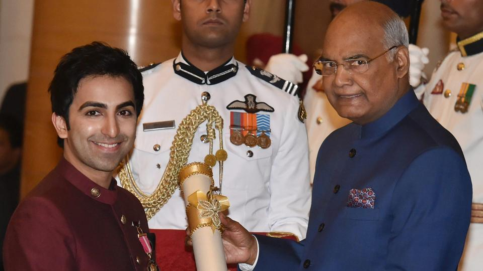 Multiple world title holder cueist Pankaj Advani also received the honour on Monday. (PTI)
