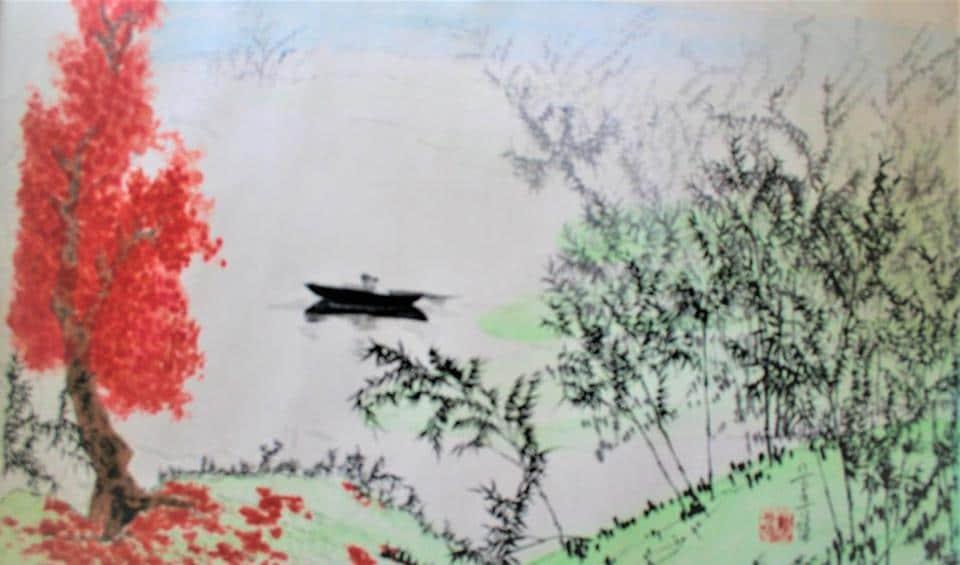 Chinese painting,Landscapes,India Habitat Centre