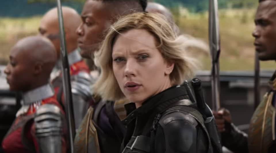 Scarlett Johansson plays Black Widow in the Marvel movies.