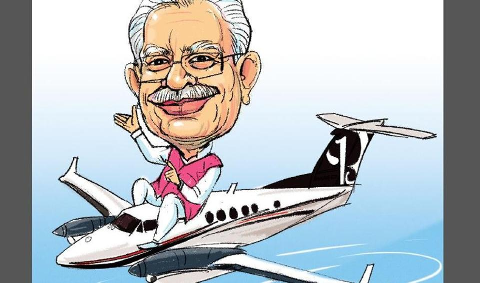 Manohar Lal Khattar,Beechcraft King Air,Haryana