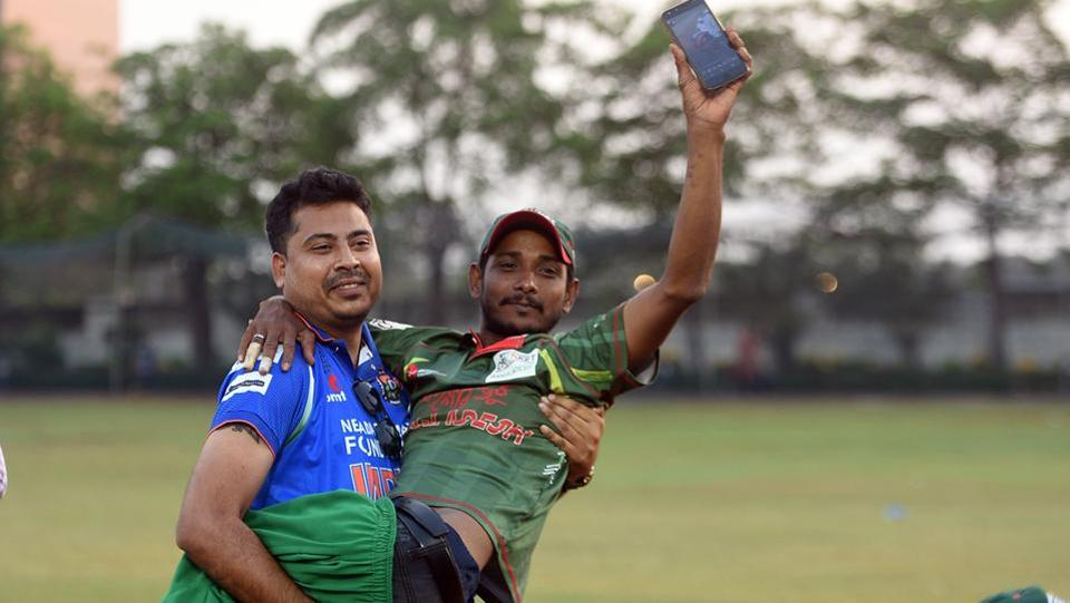 Bangladesh won the match by 3 wickets, brining the series to an eventful end (Satyabrata Tripathy/HT Photo)