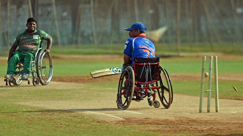 1.The Bilateral Wheelchair T20 Cricket series was held for the first time in India this year. (Satyabrata Tripathy/HT Photo)