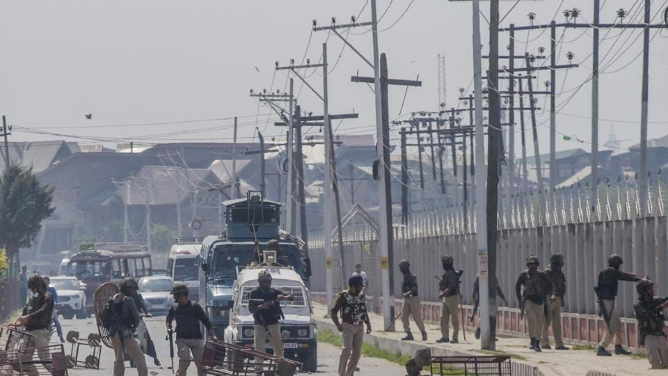 Authorities have decided to close all educational institutions and postpone exams scheduled for Wednesday as tension continued in the Kashmir Valley. Heavy security deployment is also in place to maintain law and order. (Dar Yasin / AP)