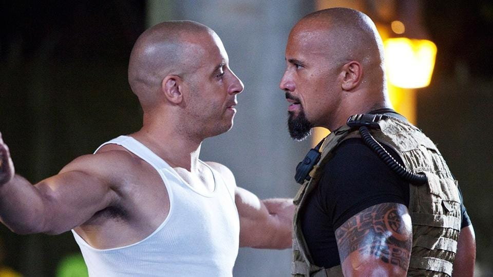 Dwayne Johnson joined the Fast & Furious saga in the fifth movie.