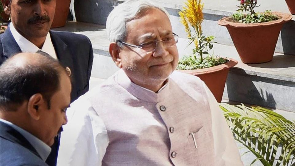 Bihar Chief Minister Nitish Kumar arrives for the Budget session in Patna.