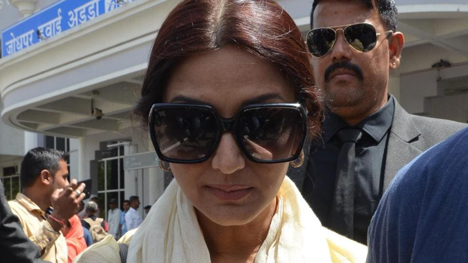 Sonali Bendre has also been acquitted in the blackbuck case. (AFP)