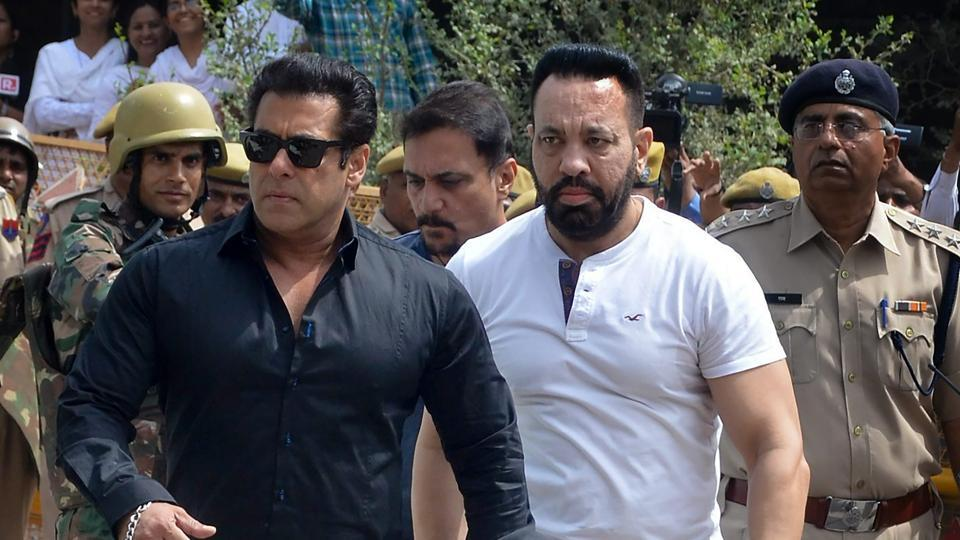 Bollywood actor Salman Khan arrives at the court for a hearing in allegations on blackbuck hunting case in Jodhpur.
