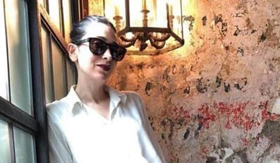 Karisma Kapoor wears a dress designed by Esha Amiin.