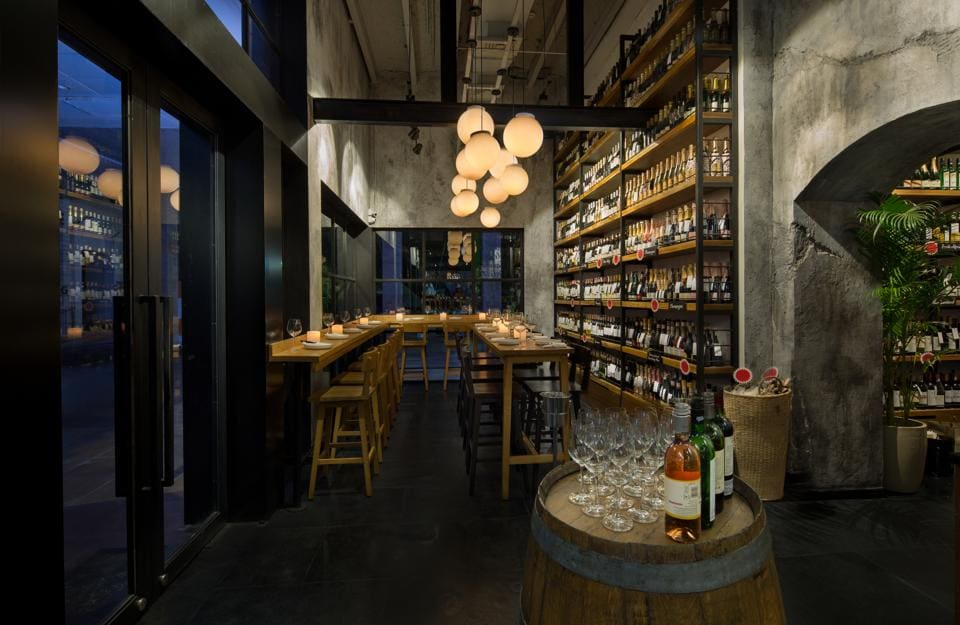 The Wine Rack's insufficiently lit space had us stumbling all the way to our table, occasionally skidding over the black floor tiles.