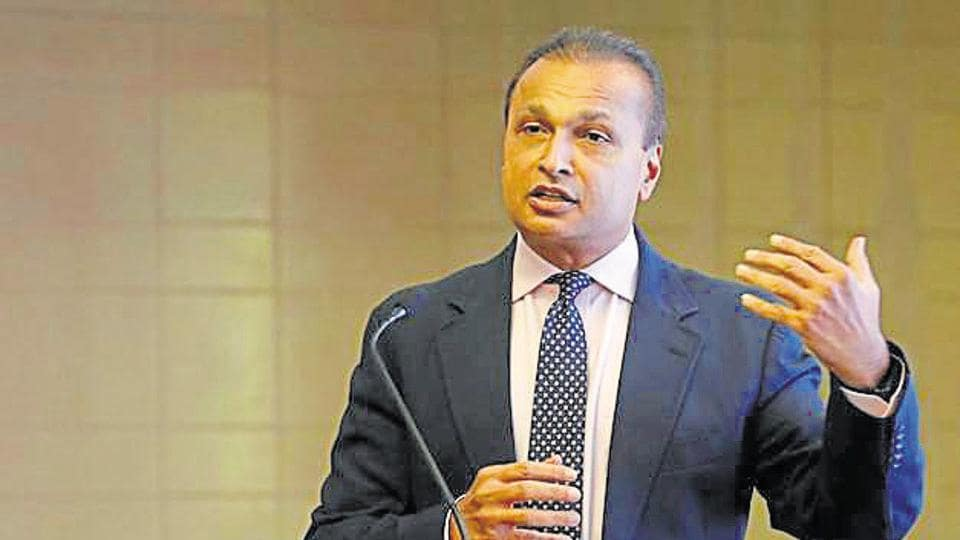 Anil Ambani, Chairman of India's Reliance Communication, addresses a news conference at the company's headquarters in Mumbai.