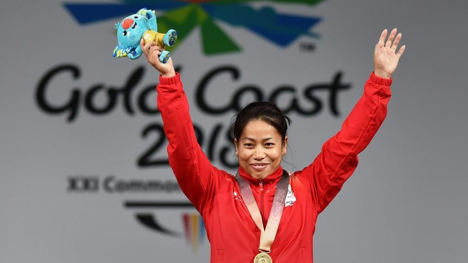 Weightlifter Sanjita Chanu Khumukcham claimed India's second gold medal at the XXI Commonwealth Games, winning the top spot in the women's 53kg category of the weightlifting competitions at the Carrara Sports Arena 1 in Gold Coast on Friday. (PTI)