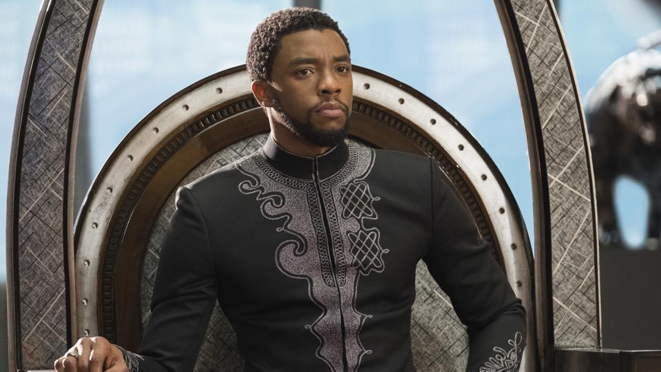 This image released by Disney shows Chadwick Boseman in a scene from Marvel Studios' Black Panther.