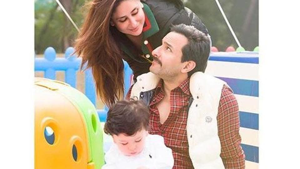 Saif Ali Khan is cherishing all moments with Kareena and Taimur.