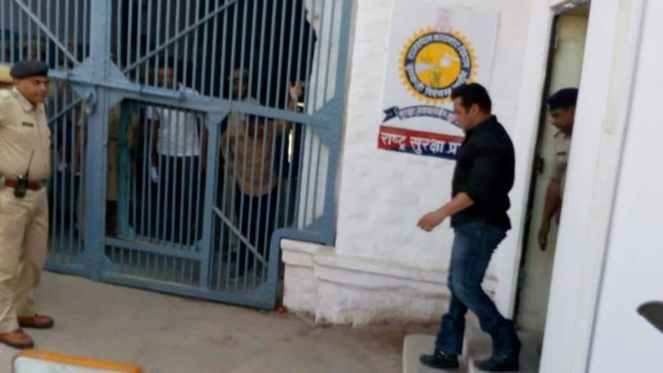 Actor Salman Khan at Jodhpur Central Jail after being convicted in the blackbuck poaching case. This is Salman's fifth stint in jail, on charges such as poaching and killing a pedestrian in a hit-and-run case in 2002 in Mumbai.
