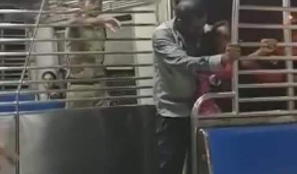 A video grab of the assault.