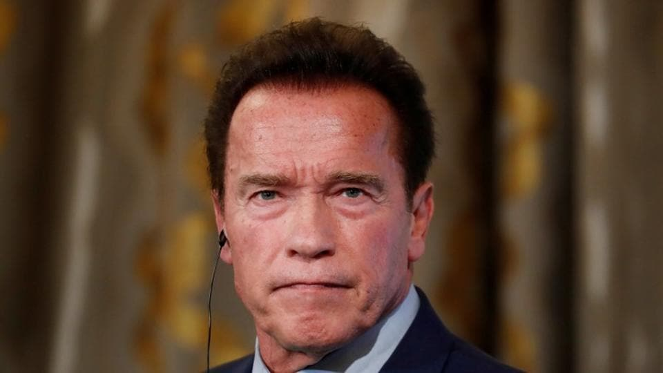 Arnold Schwarzenegger attends a news conference ahead of the One Planet Summit in Paris, France, December 11, 2017. REUTERS/Gonzalo Fuentes/File Photo