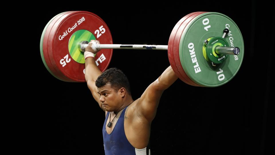 Ragala Venkat Rahul in action during the men's 85kg weightlifting event at the 2018 Commonwealth Games in Gold Coast on Saturday.