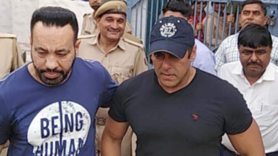 Salman Khan released from jail at Jodhpur, Rajasthan.