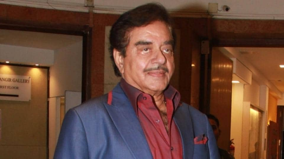 Actor Shatrughan Sinha during inauguration of a art Exhibition in Mumbai on April 4, 2018.