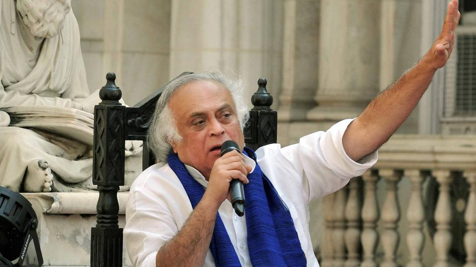 A January 27, 2018, photo of Congress Rajya Sabha MP Jairam Ramesh in Kolkata.  Ramesh has called the washout of sessions a collective failure.