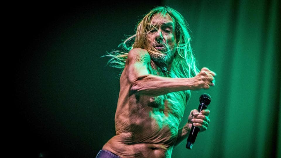 US singer Iggy Pop performs during the last day of Paaspop (Easter Pop) in Schijndel, The Netherlands. (Paul BeRgen / ANP / AFP)