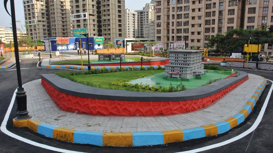 The park is built by the Thane Municipal Corporation.