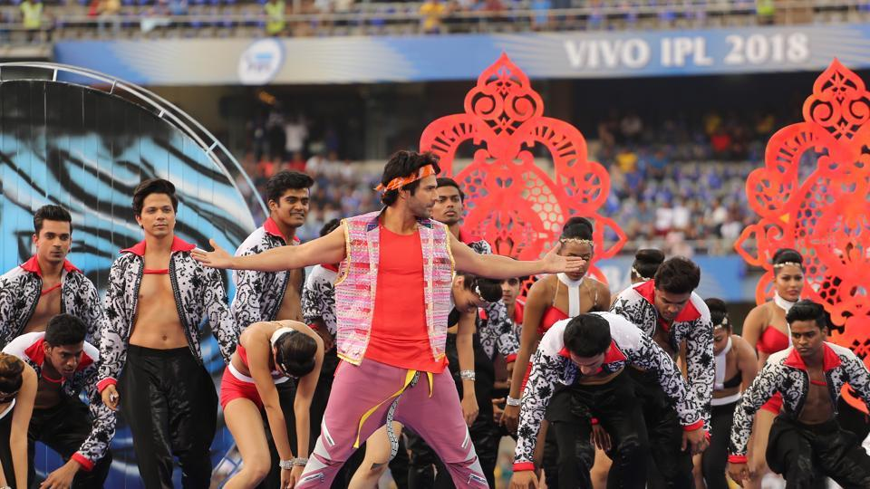 Varun Dhawan began the proceedings with a few dance numbers.  (BCCI )