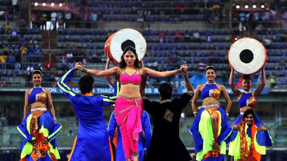 'Baahubali' actress Tamannaah  also set the stage on fire.  (BCCI )