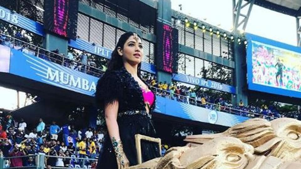 Tammannah Bhatia performs at the IPL opening ceremony.