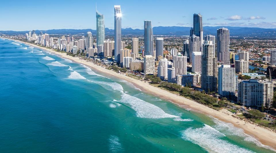 The Gold Coast has miles of world-class beaches.