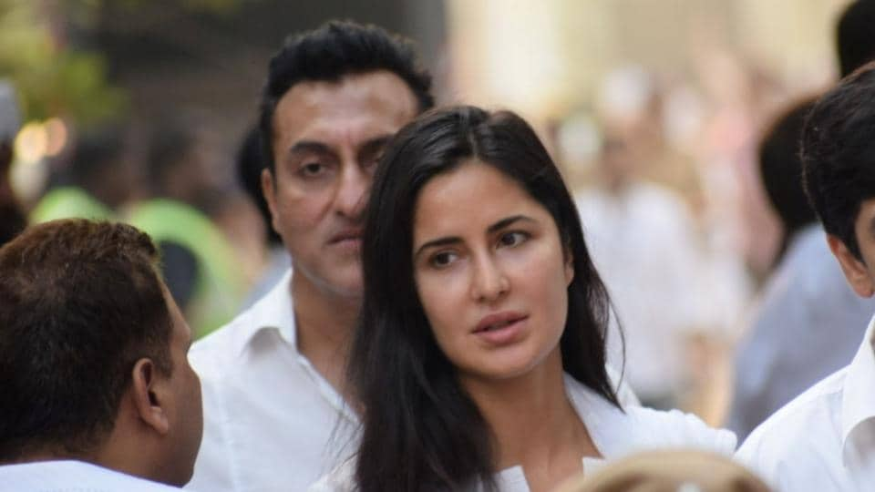 Katrina Kaif visited her co-star and friend Salman Khan as he returned to Mumbai after spending two nights in Jodhpur Central Jail. This picture is from Sridevi's funeral in February.