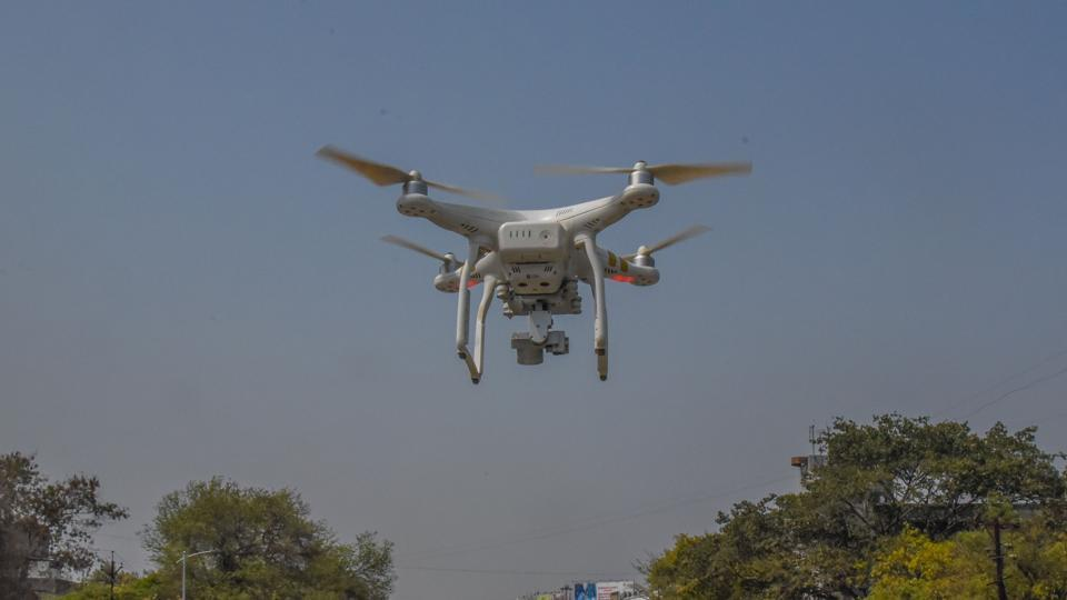 Pune Metro conducting a drone survey of Satara road on Saturday