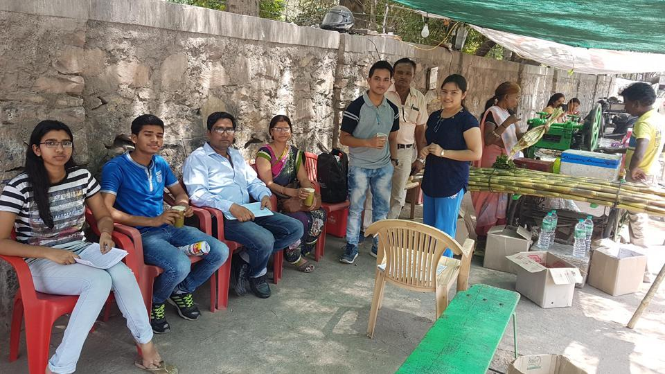 JEE Main aspirants along with their parents after taking the exam in Kota on Sunday.