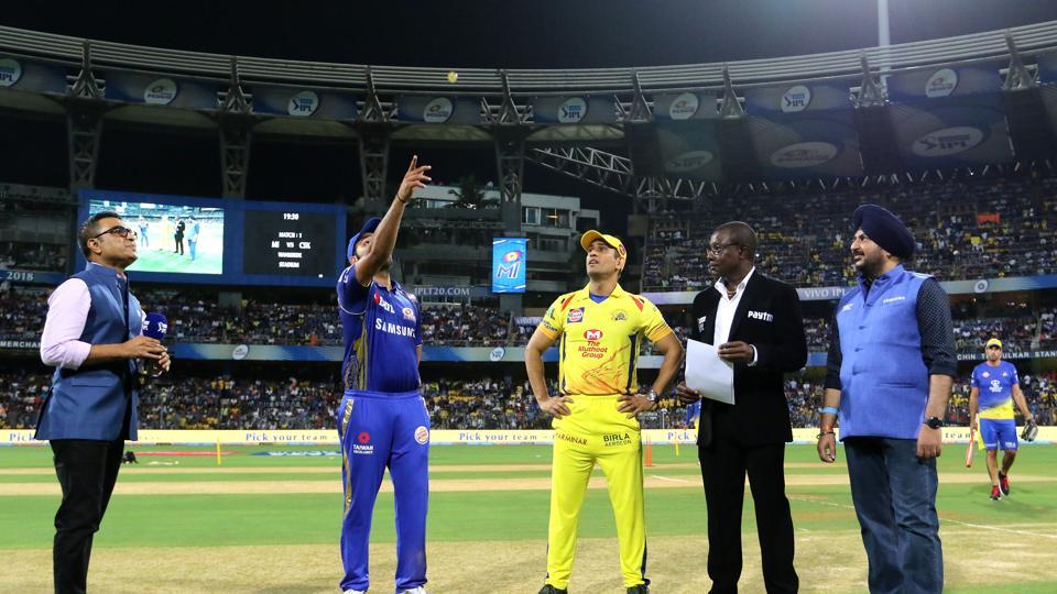 Chennai Super Kings returned to the Indian Premier League after two years and MS Dhoni won the toss and chose to bowl in the first game against Mumbai Indians. (BCCI)