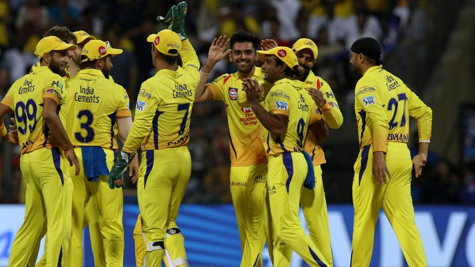 Deepak Chahar got the wicket of Evin Lewis for 0 as Chennai Super Kings made a great start. (BCCI)