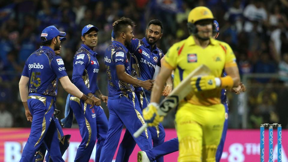 Hardik Pandya got the wickets of Shane Watson and Suresh Raina cheaply as CSK also stuttered in the chase.  (BCCI)