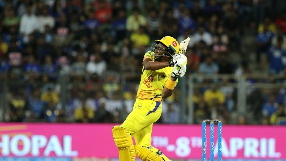 Dwayne Bravo's 68 off 30 meant CSK needed seven in the last over but he was dismissed by Bumrah which got Kedar Jadhav out, who had earlier retired hurt due to a hamstring injury. (BCCI)