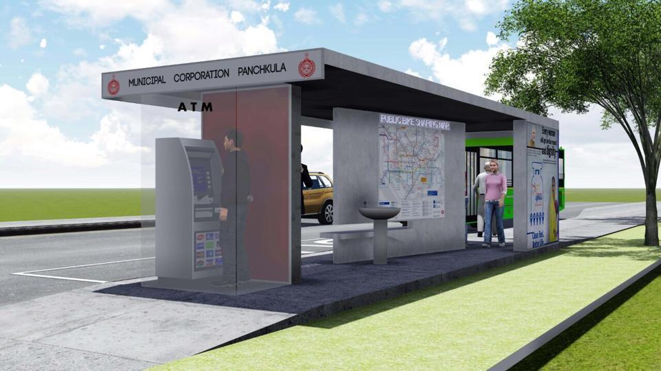 Panchkula,development,Panchkula bus shelters