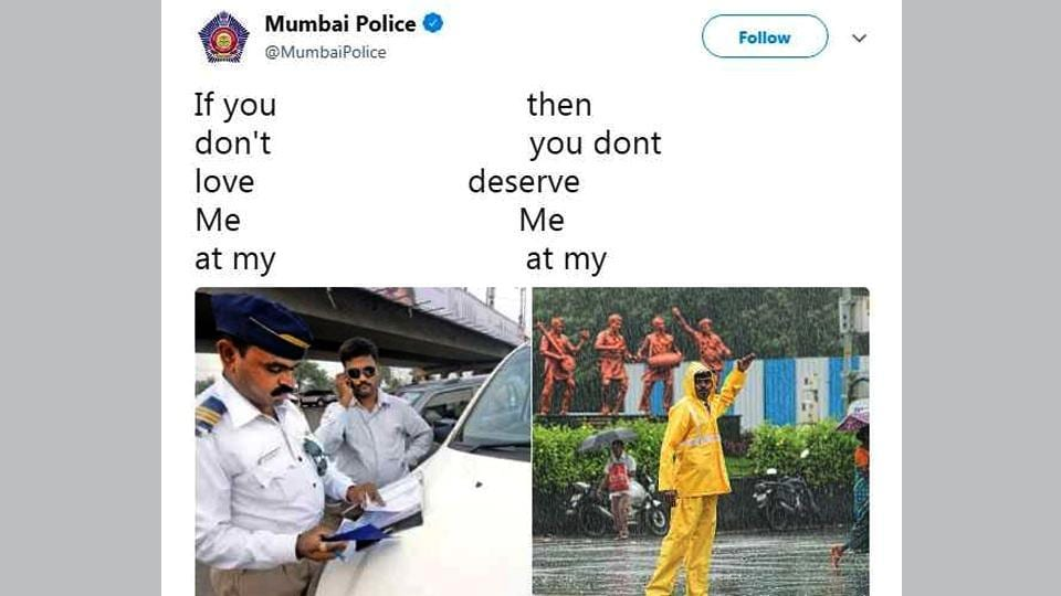 Mumbai Police does it again (Twitter)