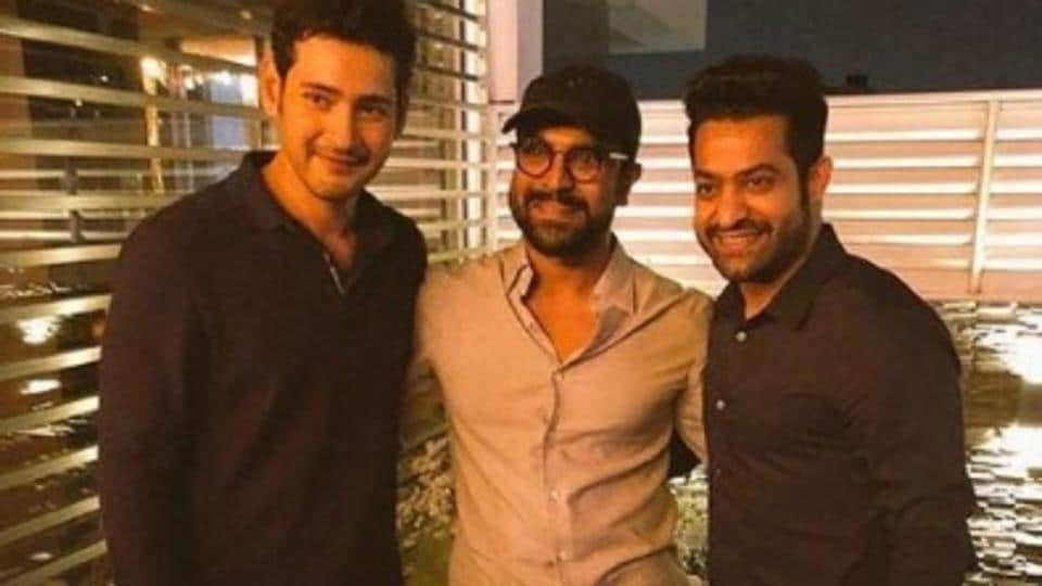 Ram Charan joined Mahesh Babu and Jr NTR at the audio launch of Bharat Ane Nenu.